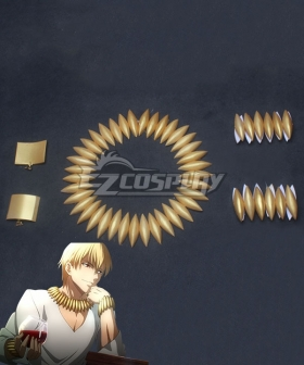 Fate Grand Order Fate Zero Gilgamesh Necklace Ear clip and Handwear Cosplay Accessory Prop