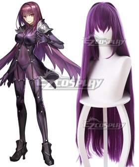 Fate Grand Order Lancer Scathach Purple Cosplay Wig - 235EC