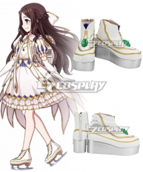 Fate Grand Order Rider Leonardo Da Vinci Gauntlets White Cosplay Shoes