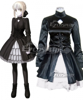 Fate Stay Night Black Saber Altria Pendragon King Arthur Dress Cosplay Costume