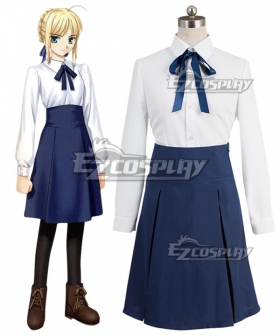 Fate Stay Night Saber Artoria Pendragon King Arthur Cosplay Costume - A Edition