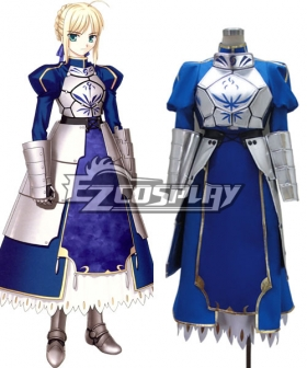 Fate Stay Night Fate Zero Saber Altria Pendragon King Arthur Cosplay Costume Deluxe Version