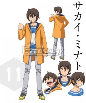 Gundam Build Fighters Try Minato sakai Cosplay Costume - Only Coat and T-shirt