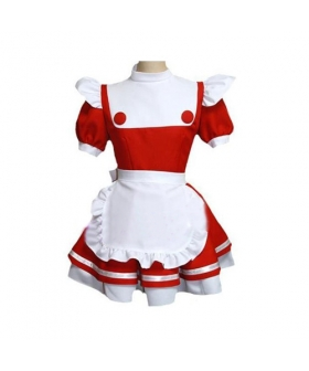 Red-white Maid Uniform Lolita Cosplay Costume