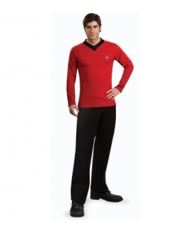 Star Trek Classic Red Shirt Deluxe Adult Costume