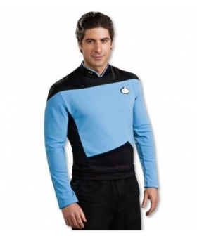 Star Trek Next Generation Blue Shirt Deluxe Adult Costume