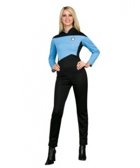 Star Trek Next Generation Blue Jumpsuit Deluxe Adult Cosplay Costume