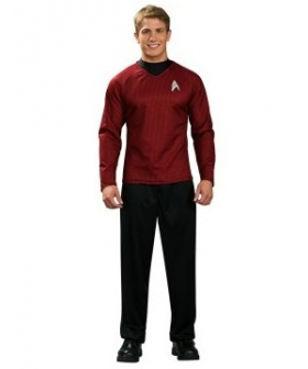 Star Trek Movie 2009 Red Shirt Deluxe Adult Costume