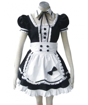 Princess Of Dark Maid Apron Dress Cosplay Costume