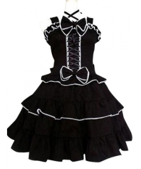 Black Gothic Lolita Cosplay Dress