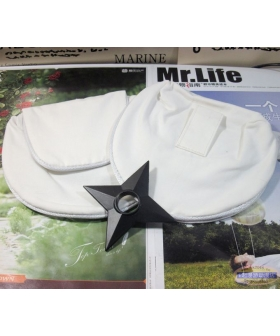 Naruto Two White Bag and Shuriken Cosplay Accessory Prop