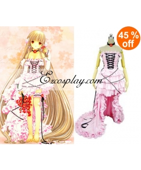 Chobits Chii Pink Dress Lolita Cosplay Costume