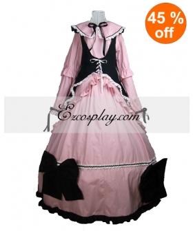 Cutton Long Sleeve with Cape Gothic Lolita Dress