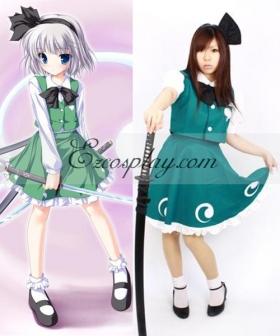 Touhou Project Ghost Youmu Konpaku Cosplay Costume