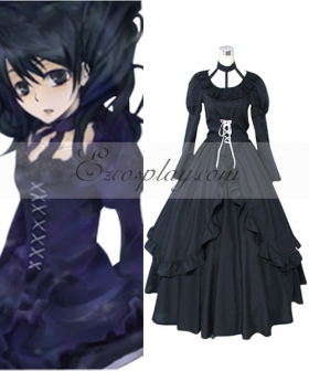 D.Gray-man Lenalee Lee Princess Black Dress Cosplay Costume
