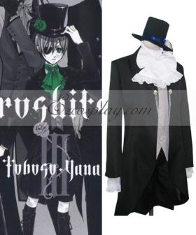 Black Butler Ciel Phantomhive Gentswear Gray Cosplay Costume