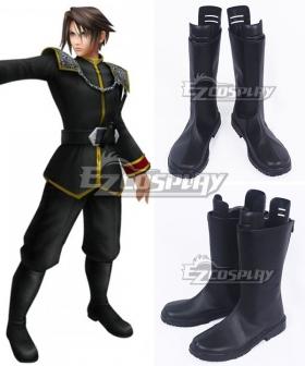 Final Fantasy Dissidia Dream Squall Leonhart Black Shoes Cosplay Boots
