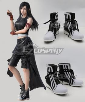 Final Fantasy VII: Advent Children Tifa Lockhart Black Shoes Cosplay Boots
