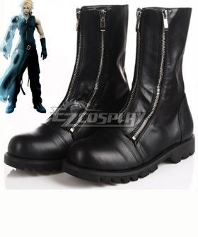 Final Fantasy VII FF7 Cloud Strife Black Shoes Cosplay Boots
