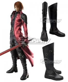 Final Fantasy VII FF7 Crisis Core   Genesis Black Shoes Cosplay Boots