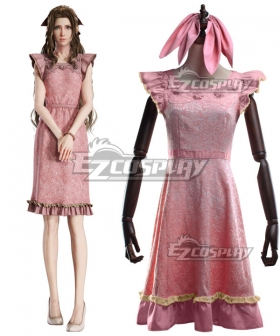 Final Fantasy VII Remake FF7 Aerith Gainsborough Dress Cosplay Costume