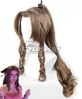 Final Fantasy VII Remake FF7 Aerith Gainsborough Ver 3 Brown Cosplay Wig