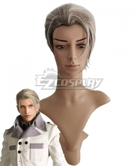 Final Fantasy VII Remake FF7 Rufus Shinra Silver Cosplay Wig