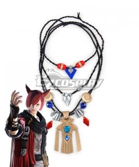 Final Fantasy XIV 5.3 G'raha Tia Cosplay Necklace Accessory Prop