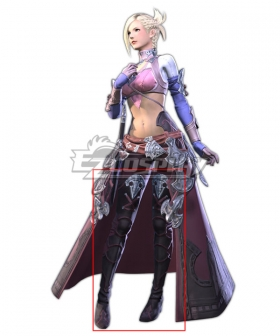 Final Fantasy XIV Minfilia Warde Black Shoes Cosplay Boots
