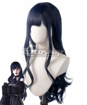 Final Fantasy XIV Shadowbringers 5.0 FF14 Boss Gaia Black Blue Cosplay Wig
