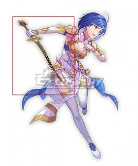 Fire Emblem Echoes: Shadows of Valentia Middle Whitewing Catria Sword Cosplay Weapon Prop