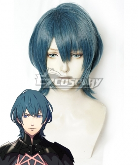 Fire Emblem: Three Houses Male Byleth Grey Green Cosplay Wig