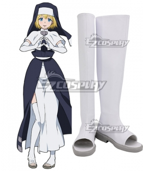 Fire Force Enen no Shouboutai Iris White Shoes Cosplay Boot