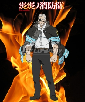 Fire Force Enen no Shouboutai Leonard Burns Cosplay Costume