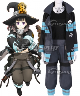 Fire Force Enen No Shouboutai Maki Oze Cosplay Costume - B Edition