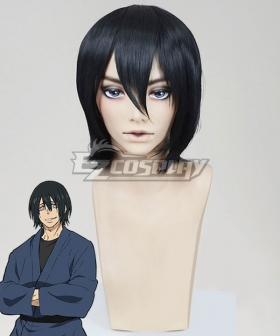 Fire Force Enen no Shouboutai Shinmon Benimaru Black Cosplay Wig