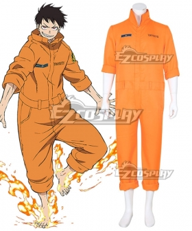 Fire Force Enen no Shouboutai Shinra Kusakabe Arthur Boyle Uniform Cosplay Costume