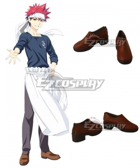 Food Wars Shokugeki No Soma Soma Of The Shokugeki Yukihira Souma Brown Cosplay Shoes