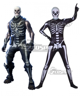 Fortnite Battle Royale Skull Trooper Spandex Jumpsuit Halloween Cosplay Costume