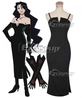 Fullmetal Alchemist Lust Black Dress Cosplay Costume