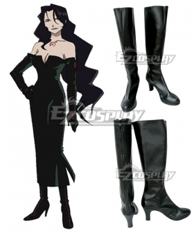 Fullmetal Alchemist Lust Black Shoes Cosplay Boots