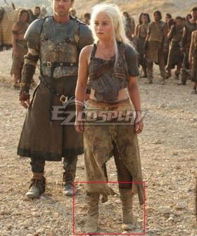 Game Of Thrones Daenerys Targaryen Khaleesi Of The Great Grass Sea Light Brown Shoes Cosplay Boots