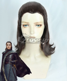 Game Of Thrones Season 8 Arya Stark Brown Cosplay Wig