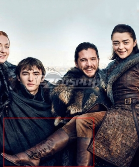 Game of Thrones Season 8 Arya Stark Brown Shoes Cosplay Boots