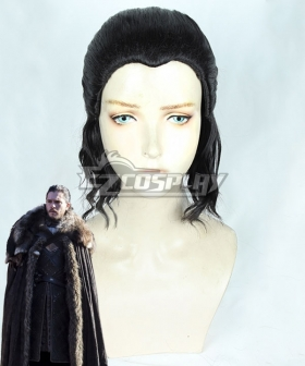 Game Of Thrones Season 8 Jon Snow Black Cosplay Wig