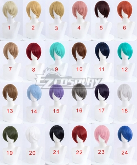 General Cosplay Multicolor Short Wigs 30cm
