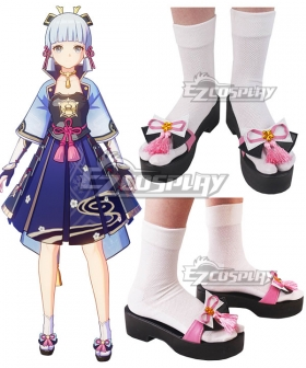 Genshin Impact Ayaka Pink Cosplay Shoes