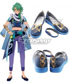 Genshin Impact Baishu Black Cosplay Shoes