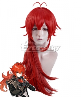 Genshin Impact Diluc Red Cosplay Wig