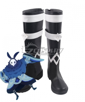 Genshin Impact Hydro Abyss Mages Black Shoes Cosplay Boots